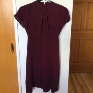 Ann Taylor dress, work, plum.